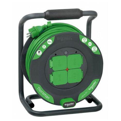 Enrouleur bricolage 40m HO5VVF 3G1,5 IP44 , Schneider Electric réf. IMT33156