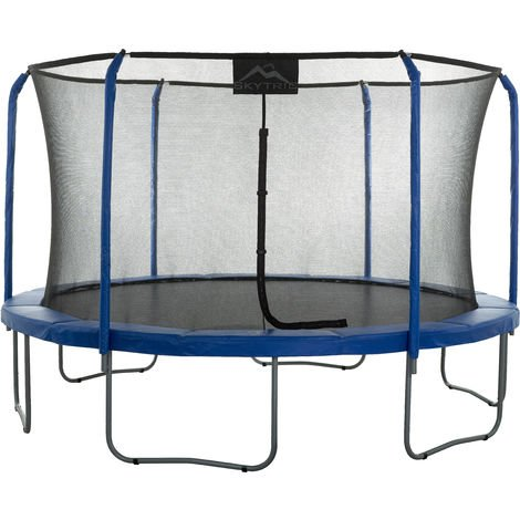 Skytric 15 FT. LargeTrampoline with Top Ring Enclosure Set Equipped with Easy Assembly Feature   Garden & Outdoor Trampoline with Safety Enclosure Net   Ultra Durable Foam Mat and Safety Pads