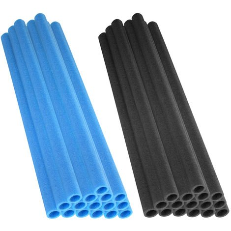 """37 Inch Trampoline Foam Sleeves for 1"""" Diameter Pole   Replacement Sponge Padding for Trampoline Poles & Maximum Safety   Set of 16 - Blue"""