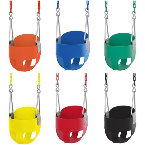 Swingan Baby Toddler High Back Bucket Swing Soft Seat   Playground Accessories for Kids   Fully Assembled - Green