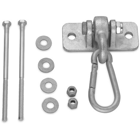 Heavy-Duty Metal Swing Hanger & Snap Hook | Carabiner for Timber Climbing Frame & Wooden Beam