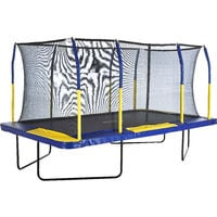 Upper Bounce 9 x 15 Ft. Mega Large Rectangle Trampoline with Fiber Flex Enclosure Net System | Professional Rectangular Trampoline for Adults and Kids | Garden & Outdoor | Easy Assemble
