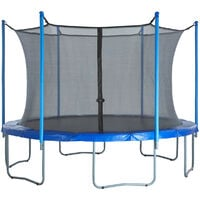 15ft Trampoline Replacement Enclosure Surround Safety Net   Protective Inside Netting with Adjustable Straps   Compatible with 6 Straight Poles or 3 Arches