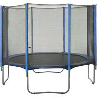 15ft Trampoline Replacement Enclosure Surround Safety Net   Protective Outside Netting Compatible with 8 Straight Poles