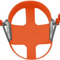 Swingan Baby Toddler High Back Bucket Swing Soft Seat   Playground Accessories for Kids   Fully Assembled - Orange