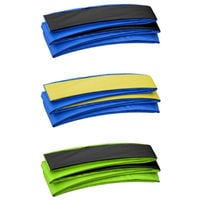 Premium Trampoline Replacement Safety Pad (Spring Cover) | Fits for 14 x 8 FT. Rectangular Frames - Blue & Black Trampoline Padding for Maximum Safety