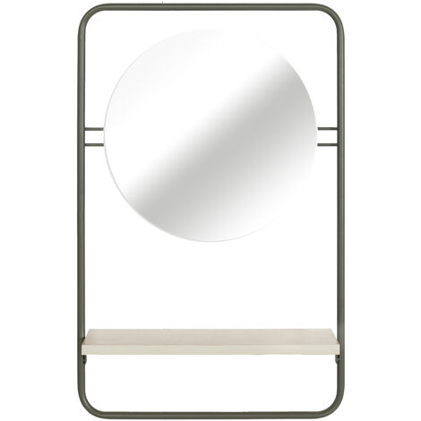 5457 Estante de pared para baño Espejo, naturaleza, verde