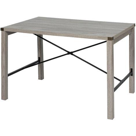 6070 Bureau, Table, Poste de Travail, Petite Taille, 120 x 80 x 75 cm, pour Bureau, Salon, Chambre, Assemblage Simple, métal, Style Industriel
