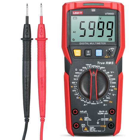 Uni-T, Medidor digital Medida Capacitacion Corriente / Voltaje Pruebas Ac / Dc