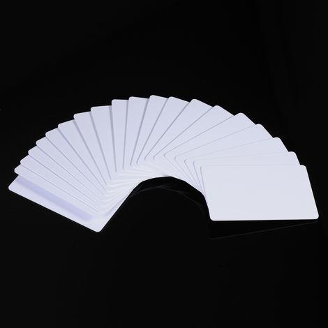 20pcs / set, tarjeta RFID de 125KHz, tarjetas blancas en blanco regrabables legibles