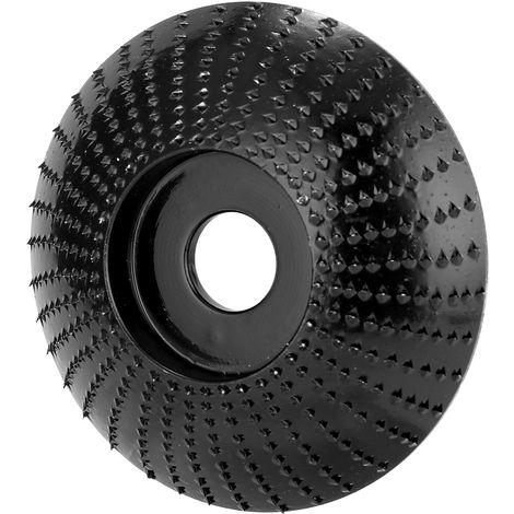 Disco de madera tallada, diametro interior de 16 mm, diametro exterior de 85 mm, negro