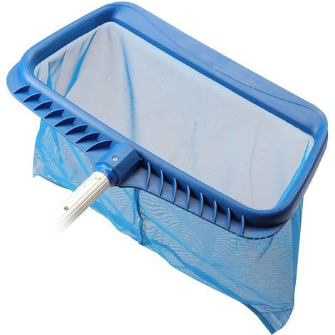 Rastrillo de hojas para remocion de red de skimmer de piscina, con bolsa profunda