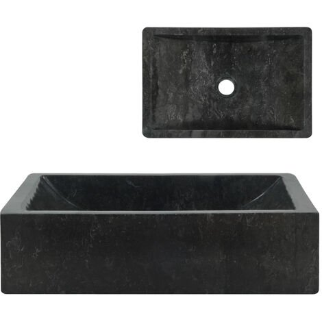 Lavabo 45x30x12 cm marmol negro