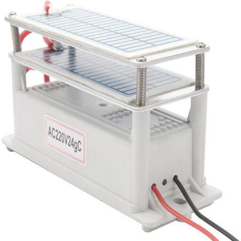 Ozono de ceramica portatil, generador de 24 g, ozonizador purificador de agua y aire
