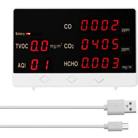 Digital CO CO2 HCHO detector TVOC, Calidad del aire monitor de analisis