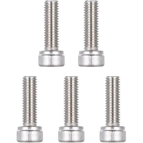 Tornillos de la M/áquina Tornillo Hexagonal Exterior Lat/ón Completamente Roscados SheMi Ferreter/ía Tornillos Pernos Metales M4 M5 M6