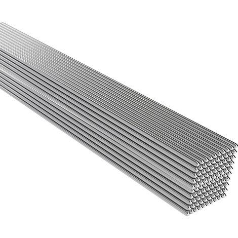 Baja temperatura de soldadura de aluminio puro alambre tubular de soldadura Vara No hay necesidad de soldadura en polvo, 100PCS, 500 * 2 mm