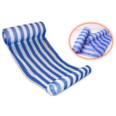 Flotador de la piscina Hamaca multiuso inflable agua Hamaca Hamaca Salon, Azul