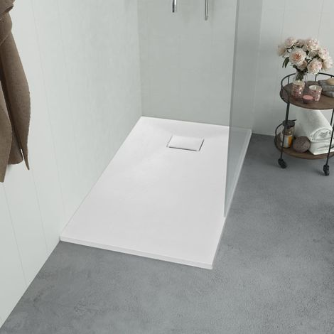 Plato de ducha SMC blanco 100x80 cm