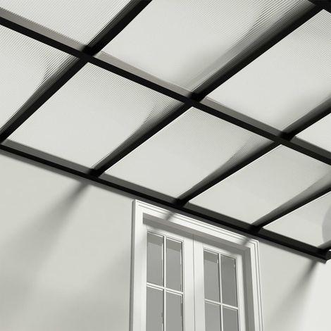Paneles de policarbonato 2 unidades 4 mm 113x60,5 cm