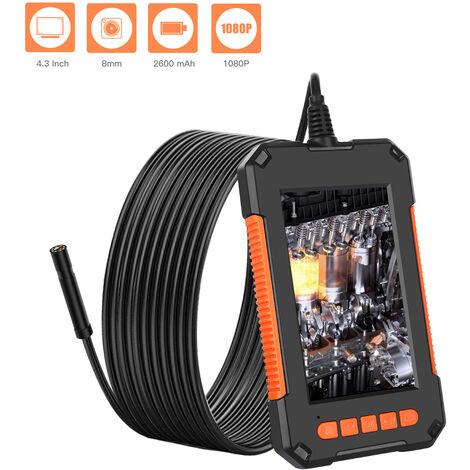 4,3 pulgadas de pantalla LCD a color de alta definicion 1080P IP67 industriales Inicio endoscopios con 8 LED de 8 mm Diametro de la camara, 5M cable suave
