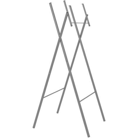 Patas de mesa plegables acero galvanizado plata 45x55x112 cm