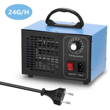 El ozono purificador portatil de filtro de la maquina Generador de aire con pulsador temporizado Ozonizador Ozonizador para el hogar del coche de formaldehido, 24 g / h