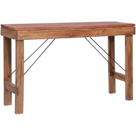 Mesa consola plegable de madera maciza reciclada 130x40x80 cm