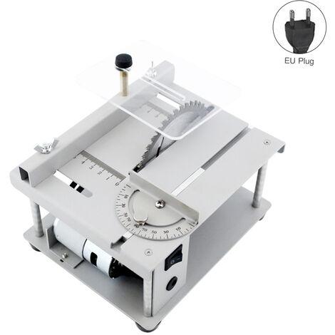 150W Multi-funcional Sierra de mesa Mini mesa de sierra cortadora electrica de la maquina de corte con hoja de sierra ajustable velocidad de ajuste del angulo 40MM profundidad de corte de madera de plastico acrilico de corte