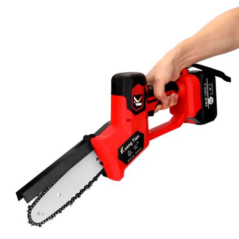 Sierra electrica portatil para podar, pequena motosierra para cortar madera, herramienta para trabajar la madera, con 1 bateria