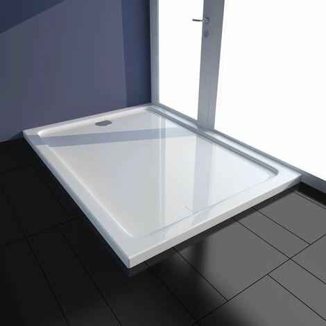 Plato de ducha rectangular de ABS, color blanco, 80 x 110 cm