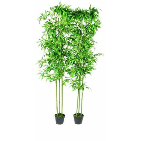 Planta artificial de bambu set de 2 unidades 190 cm