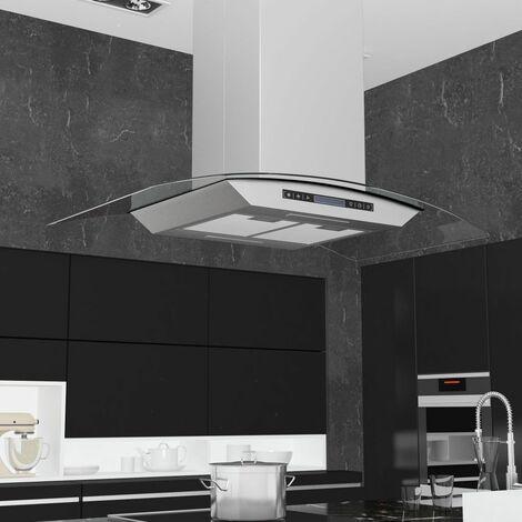 Campana extractora de techo 90 cm pantalla tactil 756 m3/h LED
