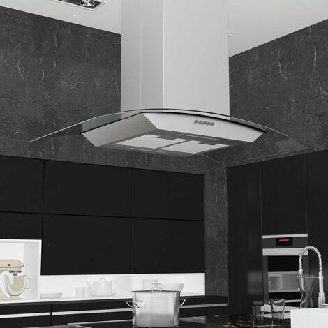 Campana extractora de techo 90 cm acero inoxidable 756 m3/h LED