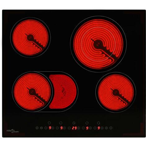 Placa vitroceramica 4 quemadores control tactil 6600 W