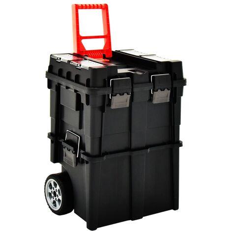 Maleta trolley para herramientas con mango 46x36x41 cm