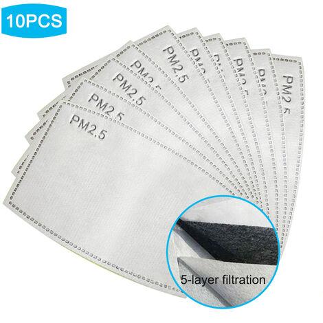 10pcs desechables mascara bucal Cambie el filtro de las almohadillas interieures, la mascarilla de respiracion activa anti-polvo cubierta (no Medicaux), gris, 10pcs