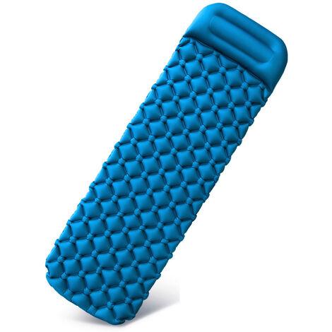 Acampar colchon inflable de humedad Mat Playa En El amortiguador de aire del sofa cama Colchon Colchon con la almohadilla al aire libre, Azul