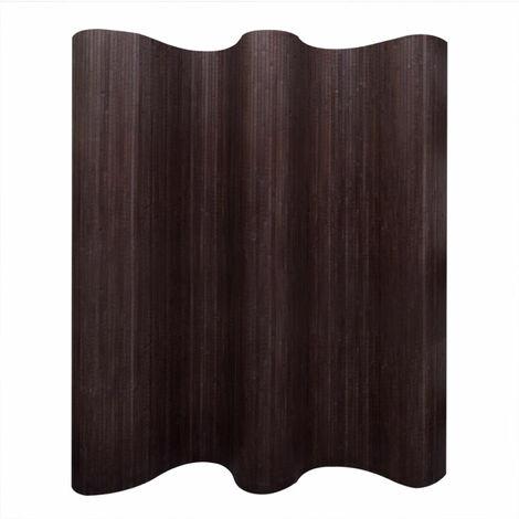 Biombo divisor bambu marron oscuro 250x165 cm