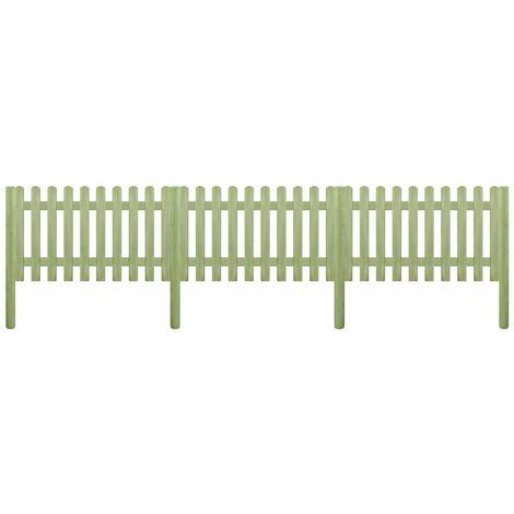 Valla de madera con postes de pino impregnado 5,1m 150cm 6/9cm