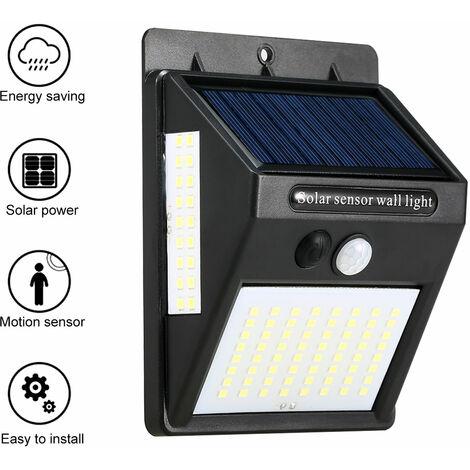 Exterior / Interior ecologico lampara solar impermeable durable lampara de induccion del cuerpo humano, IP55, Negro, 100 LED