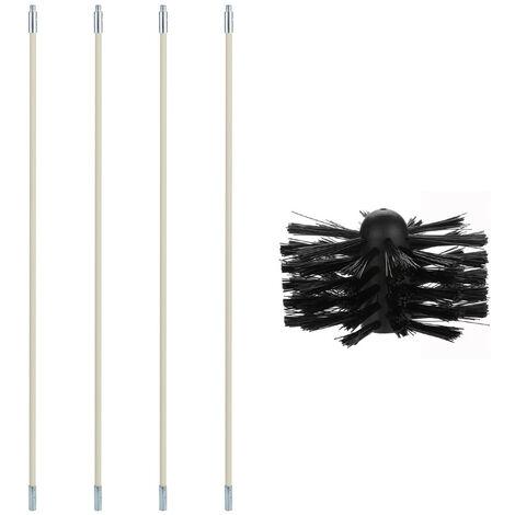 Chimenea de la caldera cepillo de nylon Secadora de conductos Tool Kit de limpieza para uso domestico e industrial, 1 #