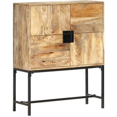 Aparador de madera maciza de mango 80x30x100 cm