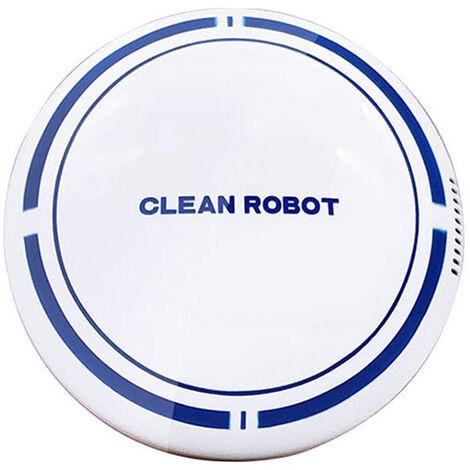 Robot Aspirador Inteligente Sweeper inteligente robot Barredor de suelo automatico Maquina barredora de carga USB Barrido Herramienta para el Suelo de madera placa de moqueta de pelo, blanco, puede solamente vacio, la bateria, 1 #