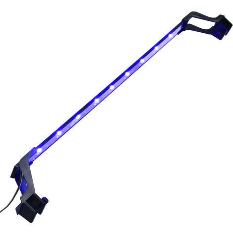 Luz LED para acuario con abrazaderas azul y blanco 75-90 cm