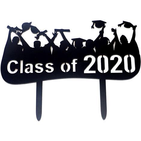 1pc 2020 Clase de la graduacion de la zanjadora la fiesta de graduacion del casquillo del arte de acrilico de la torta Inserte la tarjeta de decoracion, 5 #