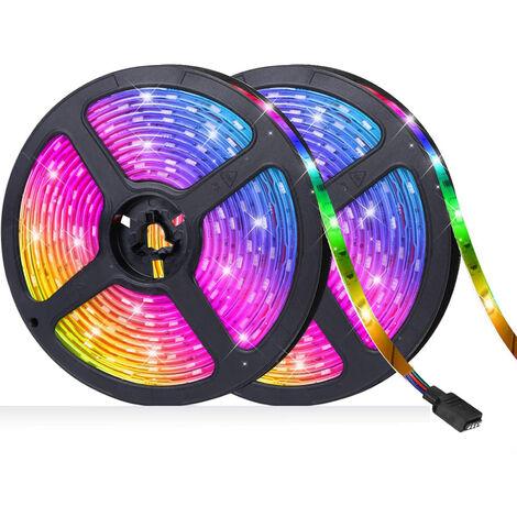 RGB LED luces de tira 20M 600leds 5050RGB luz de tira IP65 cinta impermeable del LED Control de APP Luz Brillo ajustable funcion de temporizacion para la fiesta de Navidad Barra de decoracion del hogar, UE-20M