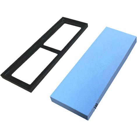 Piedra de afilar con antideslizante a base de silicona 240 Grit Waterstone piedra de afilar afilador de cuchillos