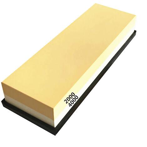 Piedra de afilar con silicona antideslizante Base dual Grit 2000/4000 Waterstone piedra de afilar afilador de cuchillos