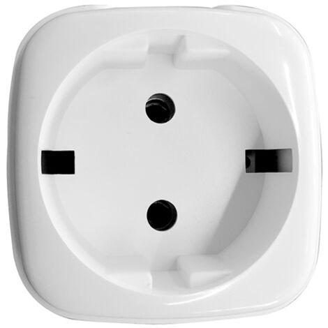 Tuya Wifi zocalo inteligente de control remoto Wi-Fi del enchufe de control remoto inalambrico de voz Temporizador Smartplug compatible con Amazon Alexa Google Asistente, blanca